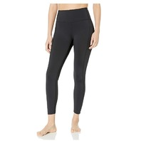 "Core 10 Women's High Waist Yoga Scallop Mesh Legging with Pockets, 26"" Inseam, M"