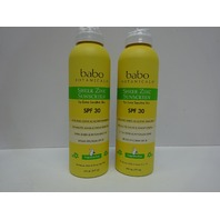 Babo Botanicals Sheer Zinc Kids Continuous Spray Sunscreen SPF 30, 6oz, 2 Pack