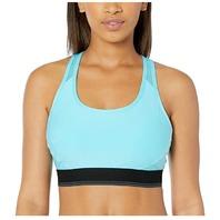 Amazon Essentials Women's Medium-Support Racerback Sports Bra, Aqua Blue, Small