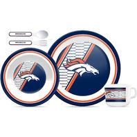 Duck House LDS10805 NFL Denver Broncos Children's Plate Bowl Cup Dinner Set