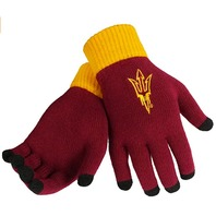 FOCO NCAA Arizona State Sun Devils Solid Knit Gloves, One Size