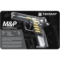 TekMat TEK-17-SW-MP-CA-DBL Double-Sided Cleaning Mat for use with S&W M&P Black
