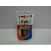 Jack&Pup 6-inch Premium Grade Odor Free Bully Sticks Dog Treats