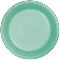 "Creative Converting Fresh Mint Plastic Dinner Plate, 9"", Green. Pack of 20"
