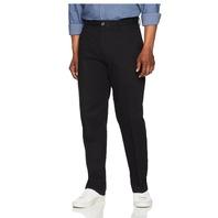 Amazon Essentials Men's Classic-Fit Flat-Front Chino Pants, True Black, 42x32