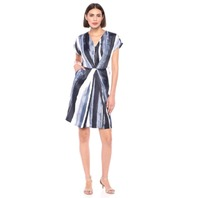 Kenneth Cole Women's Origami Pleat Dress, Painter Strip Indigo, XS