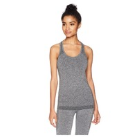 Starter Women's Seamless Light-Compression Tank Top, Iron Grey Jaspe, Small