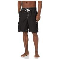 Kanu Surf Men's Barracuda Swim Trunks, Black, 2XL