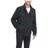 Levi's Men's Washed Cotton Two Pocket Military Jacket. Black, XL