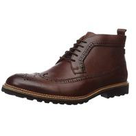 Marc Joseph New York Men's Leather Lightweight Ankle Boot Wingtip, Cognac, 10.5