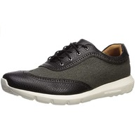 Marc Joseph New York Men's Leather Lightweight Wingtip Sneaker, Black, 8.5