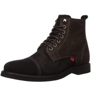 Marc Joseph New York Men's Leather Luxury Laceup Lug Boot, Black/ Brown, 9