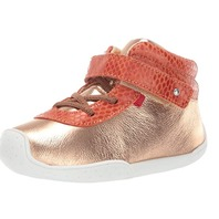 Marc Joseph New York Toddlers Girls Leather High Top Loafer, Rose Gold, 10