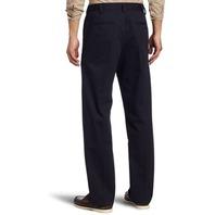 IZOD Men's American Chino Flat Front Straight Fit Pants, Navy, 31W x 32L