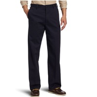 IZOD Men's American Chino Flat Front Straight Fit Pants, Navy, 31W x 32L
