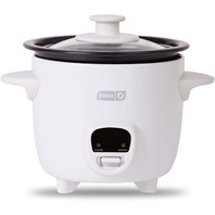 Dash DRCM200GBWH04 Mini Rice Cooker Steamer with Removable Nonstick Pot, White