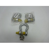 "Titan 10319054 Bow Type Anchor Shackle 1/2"" Hot Dip Galvanized w/ Screw Pin 3ct"