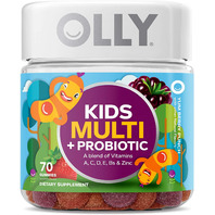 OLLY Kids Multi-Vitamin and Probiotic Gummy Supplements, Yum Berry Punch, 70 ct