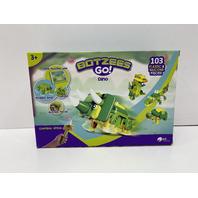 BOTZEES GO! Dinosaur Toys, Dinosaur Robots for Kids, STEM Building & Dino Set