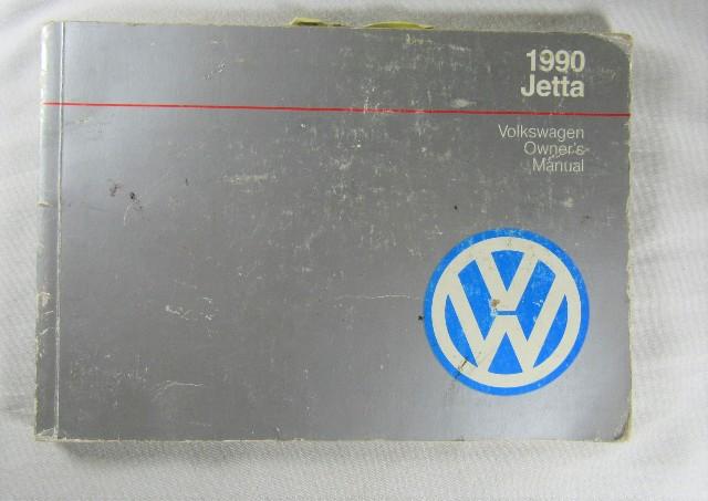 1990 Volkswagen Jetta Owners Manual Book