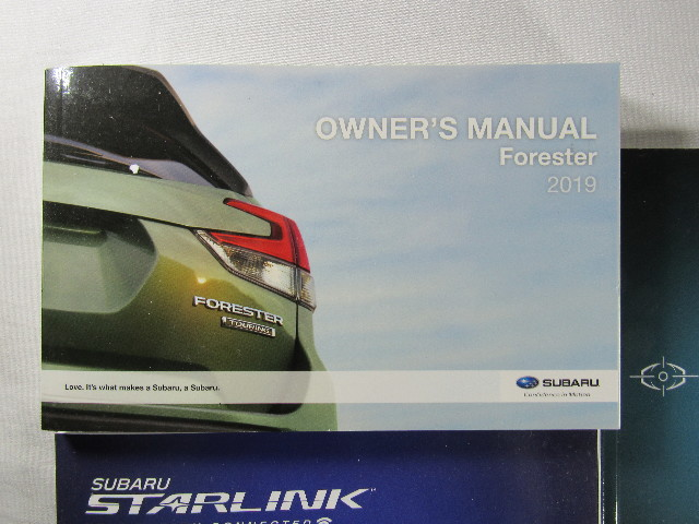 2019 Subaru Forester Owners Manual Book Ebay