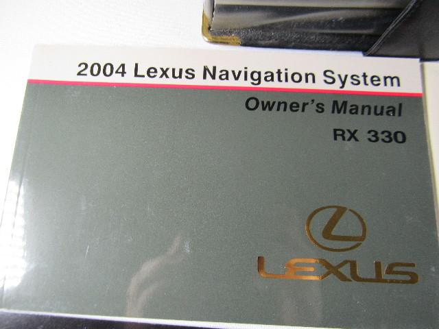2004 Lexus RX330 Navigation Owners Manual RX 330 Motors Vehicle ...