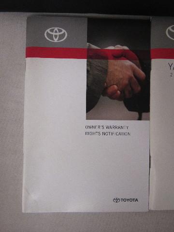 2010 toyota yaris sedan owners manual guide book   ebay.