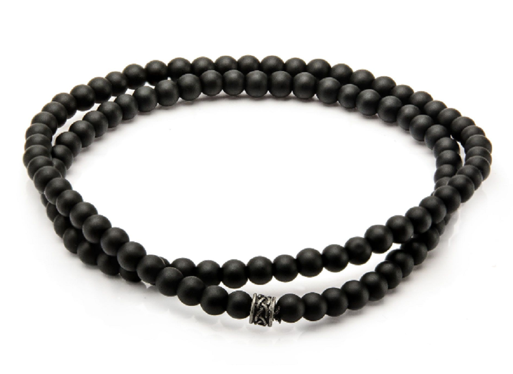 Black Onyx Stone Beaded Bracelet