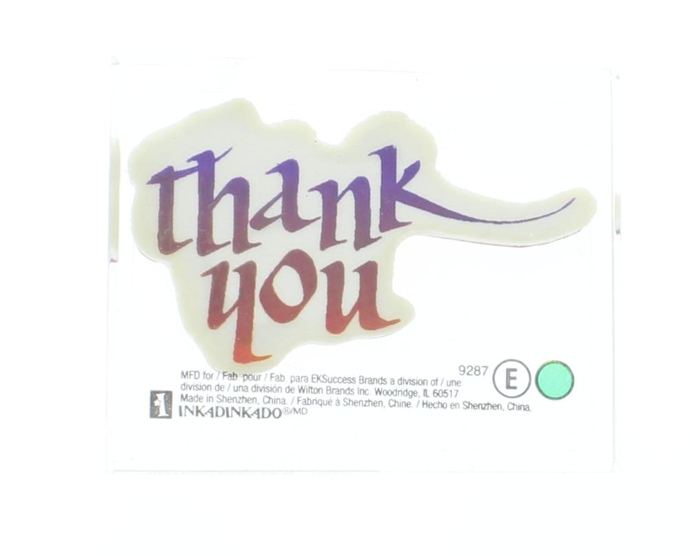 Inkadinkado Thank You Words Writing Card Making Acrylic ...