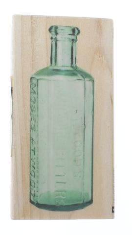 Inkadinkado Apothecary Flower Vase Bitters Bottle Wooden Rubber Stamp