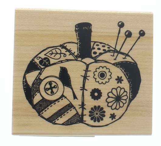 Inkadinkado Halloween Thanksgiving Country Pumpkin Wooden Rubber Stamp