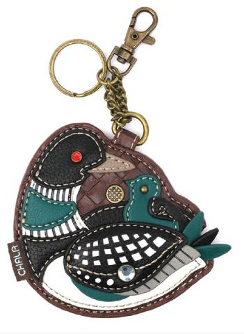 Chala Loon Bird Duck with Chic Whimsical Key Chain Coin Purse Bag Fob Charm
