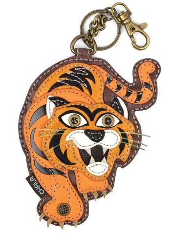 Chala The Tawny Tiger Whimsical Key Chain Coin Purse Bag Fob Charm