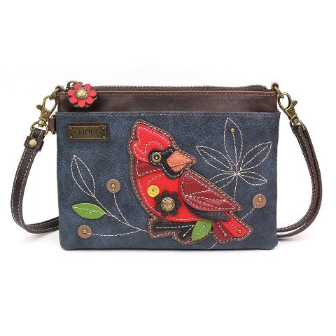 Charming Chala Red Cardinal Bird Crossbody Bag Handbag Purse