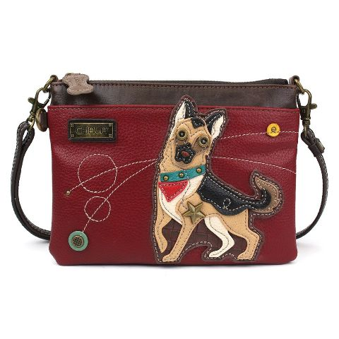 Charming Chala German Shepherd Puppy Dog Crossbody Bag Handbag Purse