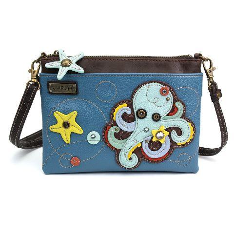 Charming Chala Octipus with Starfish Mini Crossbody Bag Handbag Purse