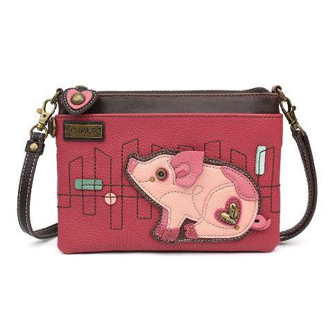 Charming Chala Pink Little Pig Piggy Crossbody Bag Handbag Purse