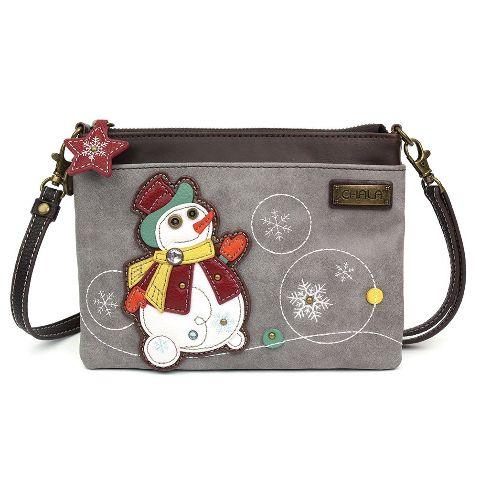 Charming Chala Winter Snowman Crossbody Bag Handbag Purse