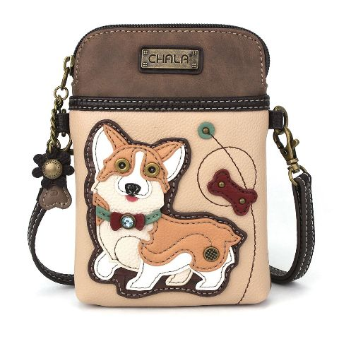 Charming Chala Corgi Puppy Dog Cell Phone Purse Mini Crossbody Bag