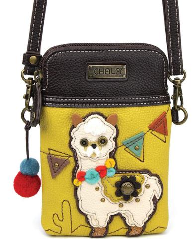Charming Chala Festive Llama Cell Phone Purse Mini Crossbody Bag