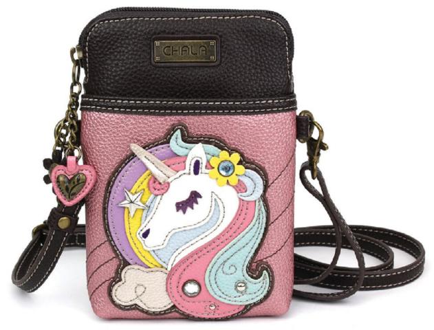Charming Chala Beautiful Unicorn Cell Phone Purse Mini Crossbody Bag