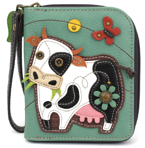 Charming Chala Moo Cow Purse Wallet Credit Cards Coins Wristlet