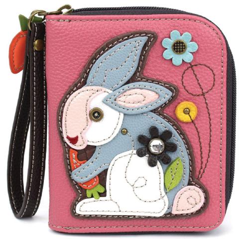 Charming Chala Bunny Rabbit Purse Wallet Credit Cards Coins Wristlet