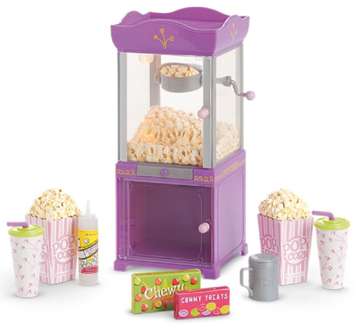 American Girl AG Popcorn Machine and Theater Treats for Dolls Truly Me