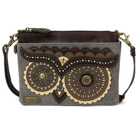 Charming Chala Wize Ole Owl Mini Crossbody Bag Handbag Purse