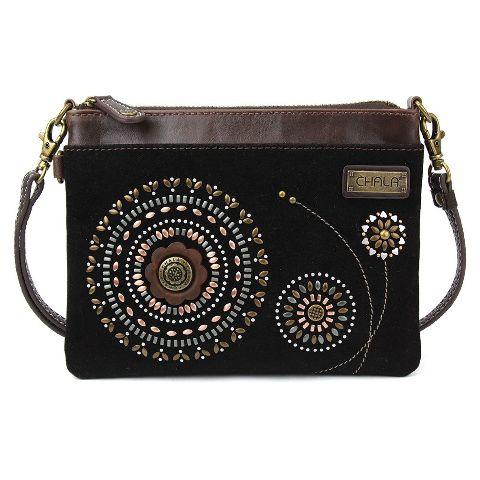 Charming Chala Beaded Rings Print Mini Crossbody Bag Handbag Purse