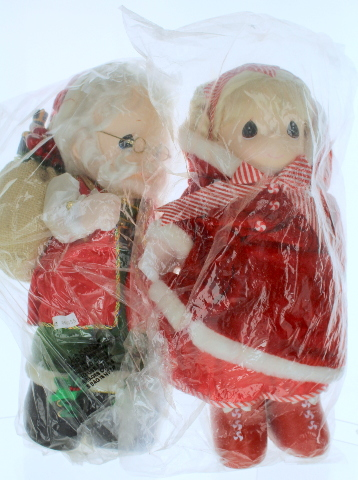 Precious Moments Classic Doll Santa Claus with Pepermint Pal Set