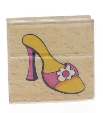 Sarah Beise High Heel Pump Fashionista Shoe Wooden Rubber Stamp