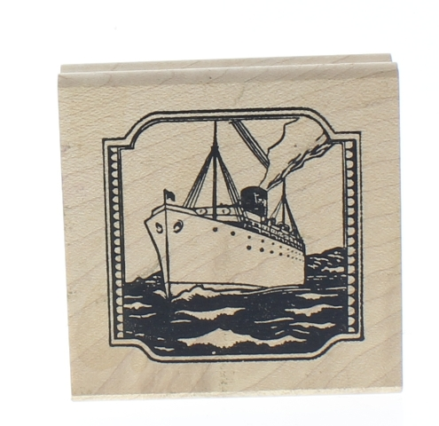 Tin Can Mail Ocean liner Oil Tanker Ship Wooden Rubber Stamp