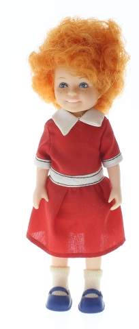 "Orphan Annie 6"" Doll Knickerbocker Original Dress Socks Shoes Outfit"